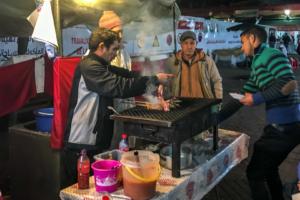 24.1.2017 - Jamaa el Fna, Abendessen