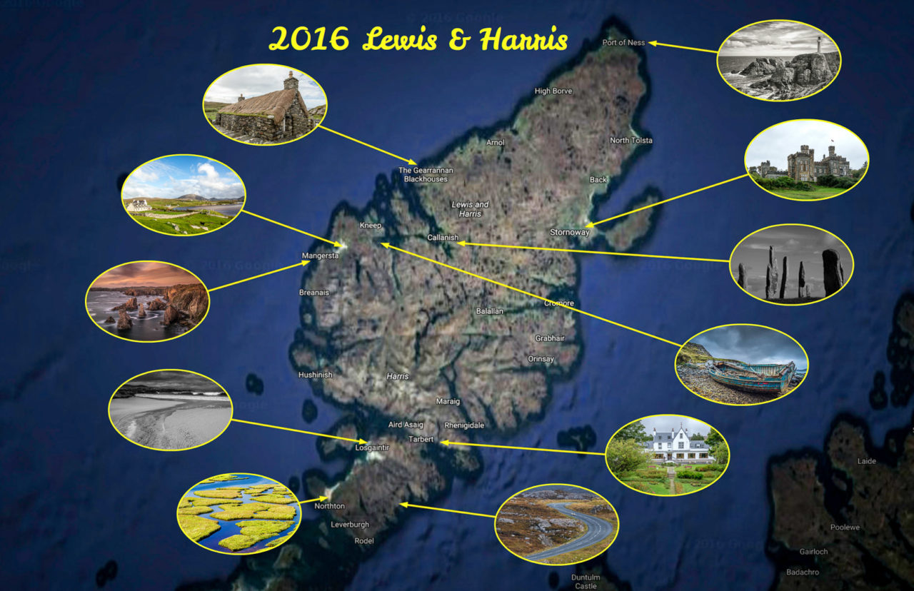 11.-17.9.2016: Locations des Fotoworkshops Lewis&Harris