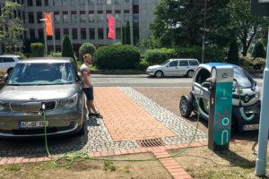 5.6.2017 - mit dem KIA nach Siegen: Weitere 100 km ... Laden bei Innogy (schw....teuer)