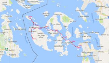 31.7.-4.8.2017 - Kayaktour auf den San Juan Islands (87 km in 5 Tagen)