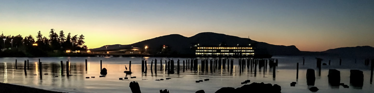 30.7.2017 - Abendspaziergang, Anacortes Ferry Station