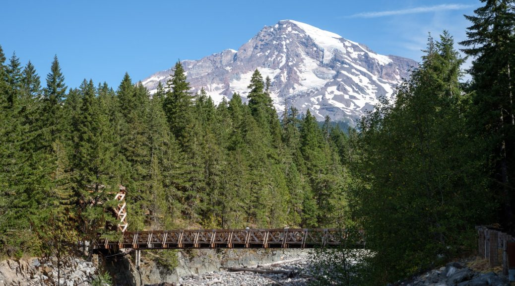 25.8.2017 - Mt.Rainier NP, Nisqually Suspension Bridge