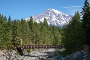 25.8.2017 - Mt.Rainier NP, Nisqually Suspension Bridge
