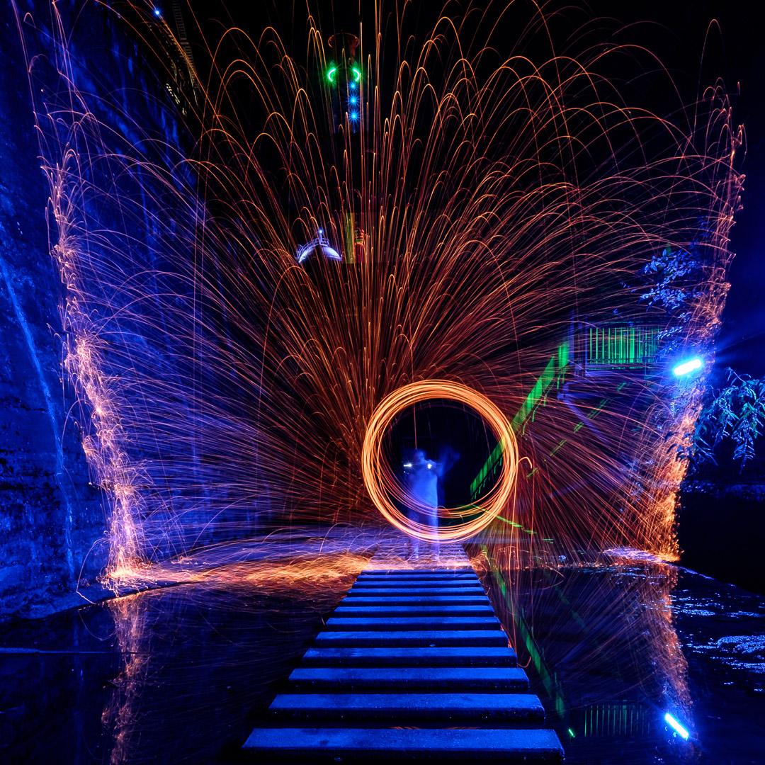 23.9.2017 - Landschaftspark Duisburg, Lichtspiele im Vorratsbunker