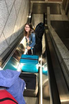 27.7.2017 - 1 std nach der Landung sind wir schon durch Immigration und Baggage Claim