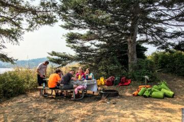2.8.2017 - Campsite auf Blind Island