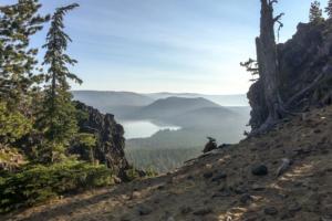 19.8.2017 - Newberry NVM, Wanderung auf den Paulina Peak