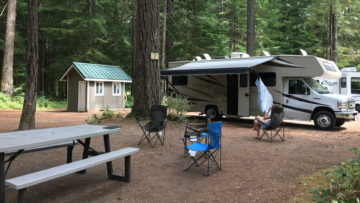 23.8.2017 - Eagle Cliff Campground, Site 7