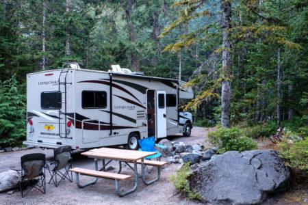 24.8.2017 - Mt.Rainier NP, Cougar Rock Campground, Site A13
