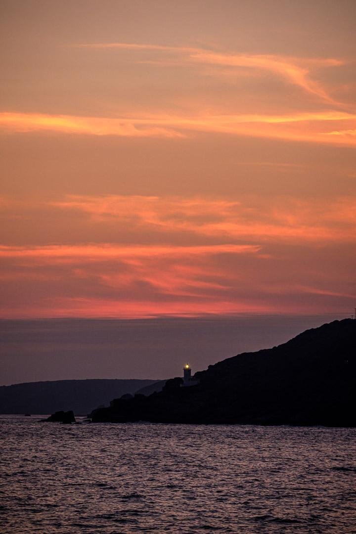 14.10.2017 - Mit der Scillonian III von St.Mary's nach Penzance, Tater-du Lighthouse