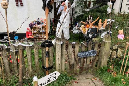 28.10.2017 - Helford Wanderung; Halloween in Manaccan