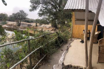 """30.9.2019 - Das """"Old Bridge"""" in Maun; Tent 3"""