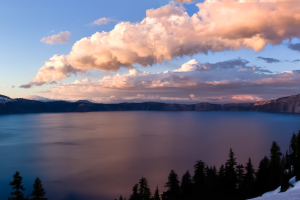 18.6.2010 - Crater Lake, der Sonnenuntergang des Jahres :-)