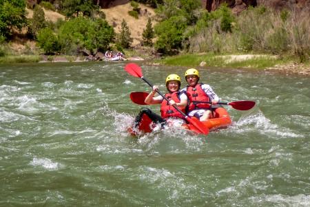 27.7. Wir vier sind im Kayak unterwegs - kaum Fotos