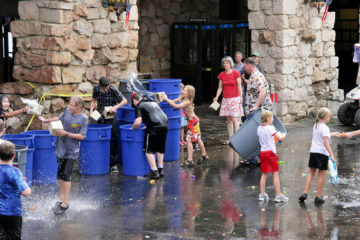 4th-of-July-Wasserschlacht an der Grand Canyon Lodge.