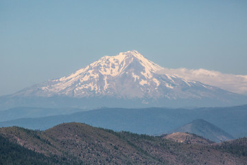 20.7. Viewpoint am #44 - Blick auf den Mount Shasta