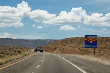 3.8. Fahrt auf der I-15, Arizona Strip