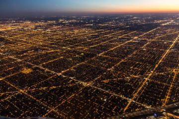 6./7.8. Rückreise - Nachtanflug auf Chicago
