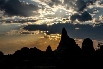 Arches NP: Sonnenuntergang am Devils Garden