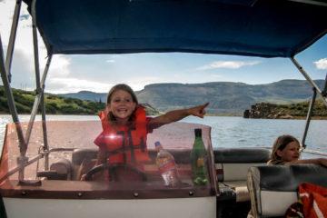 Curecanti NRA: Spritztour mit dem Motorboot :-)