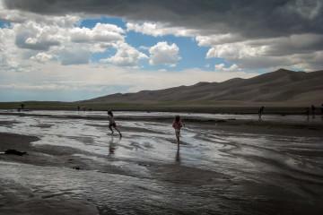 Great Sand Dunes: Planschen im Medano Creek