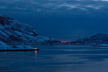 12.2. Hurtigruten, Harstad-Svolvaer, Raftsund und zunehmende Dämmerung