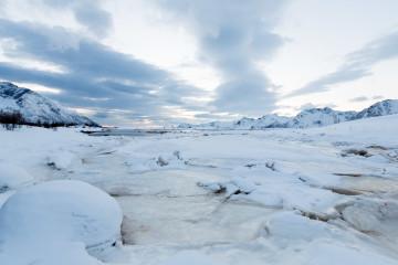 13.2. Grimsoysand - Eis und Sonnenuntergang