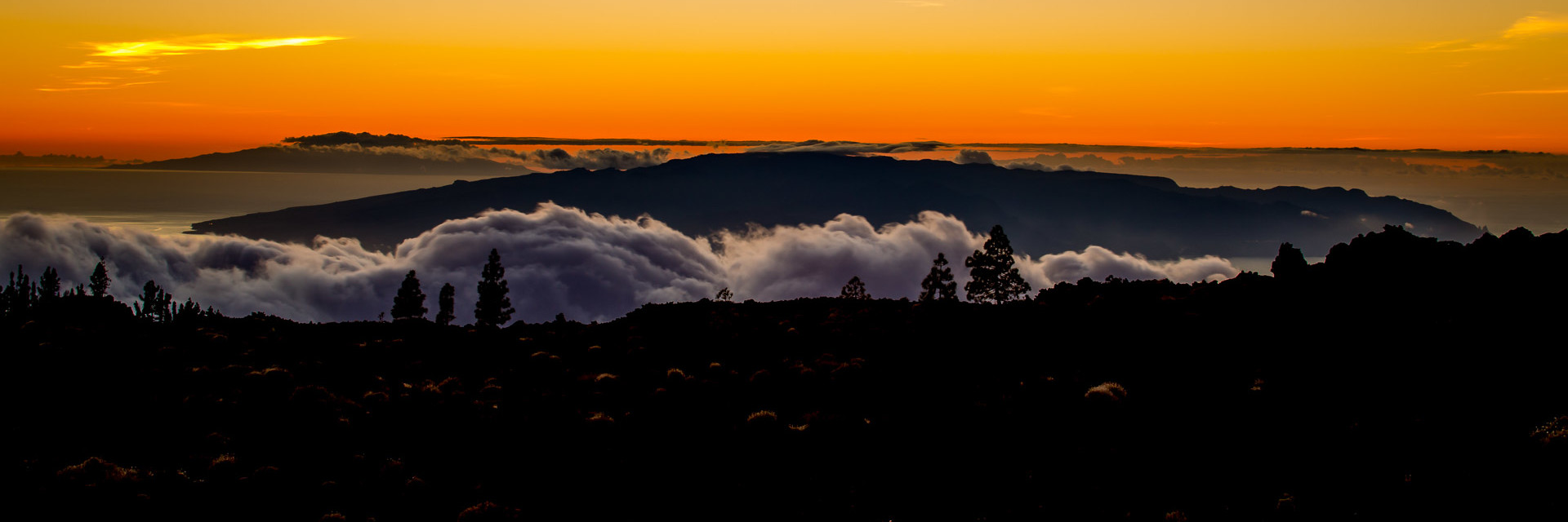 14.11. Sonnenuntergang, Corona Forestal / Lava Negra