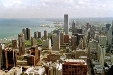 Blick vom Hancock-Building nach Norden über Downtown.