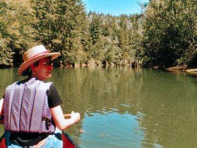 Mendocino State Park: Kanutour auf dem Big River.