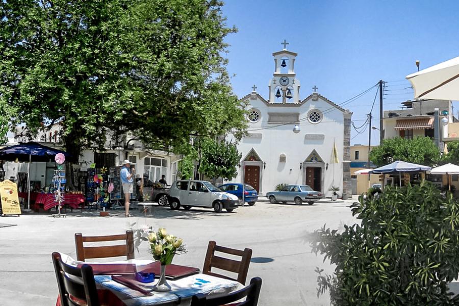 Der Marktplatz von Mochos