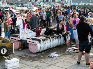 25.7. West Bay - Raft Race