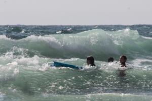 1.8. noch ein Surf&Swim in Poldhu Cove :-)