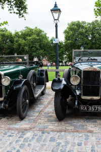 11.8. Radtour Bristol-Bath - Oldtimer am Queens Square