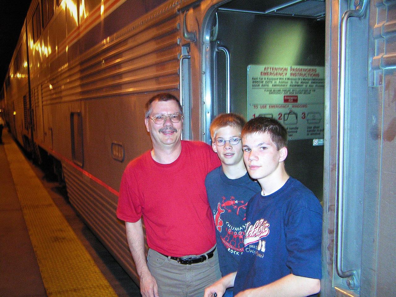 Einstieg in den Amtrak-Zug