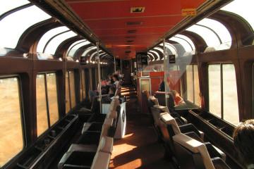 Aussichtswagen des California Zephyr