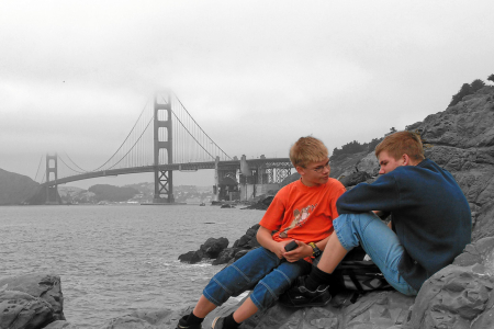 San Francisco - Golden Gate Bridge vom Baker Beach aus.