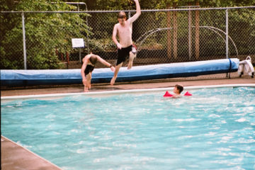 Campground in Washington - wir baden auch im Regen :-)
