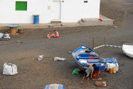 Ajuy - Toben im Sand