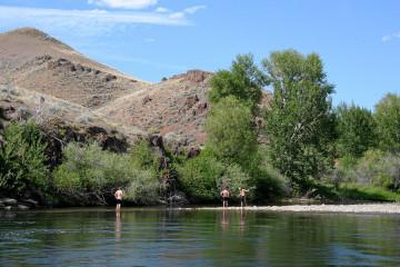 Idaho, Highway #95: am Salmon River.