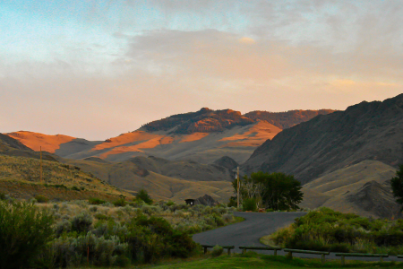 Sonnenuntergang am Salmon River