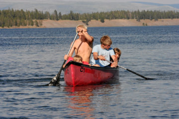 Canoeing, Hebgen Lake, Montana