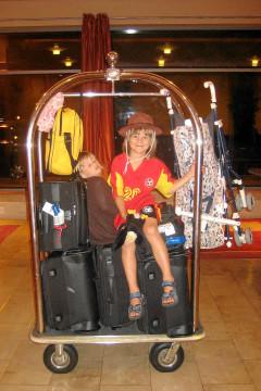 Ankunft im Hotel