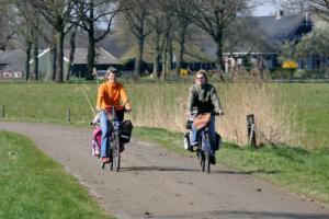 Sisters on the bike ...