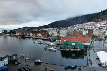 Der Freizeithafen von Bergen