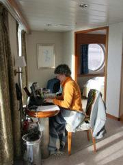 Die Suite war unser Refugium: Karin konnte arbeiten ...