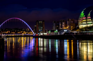 23.4.2016 Bridges of Newcastle: Millenium Bridge, Sage Gateshead
