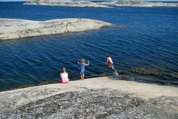 Schwimmen auf den Schären