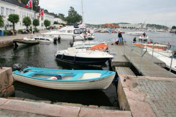 Der Gästehafen von Risør