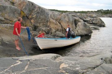 Ausflug mit dem Boot zu den Schären